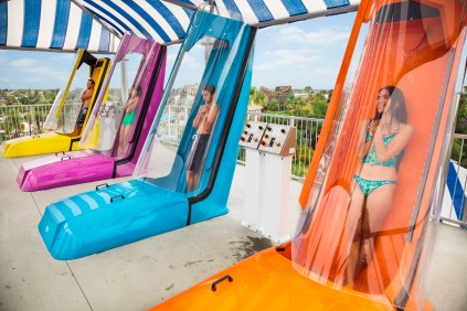 Shore Break AquaLaunch Drop Slides Group Knott's Soak City