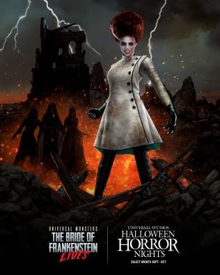 Universal Monsters Bride of Frankenstein Lives maze at HHN 2021